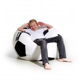 pufa piłka biała czarna worek do siedzenia pufa do leżenia pufy dla dzieci jabba kick