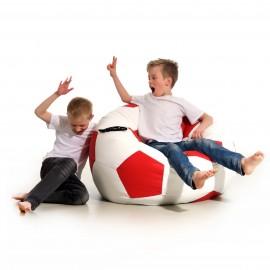 Pufa piłka Kick biało-czerwona Jabba