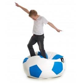 Pufa piłka Kick biało-niebieska Jabba