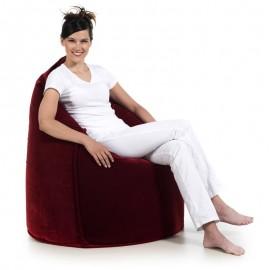 pufa worek czerwona velvet welur fotel pufa do siedzenia pufy sako jabba sack