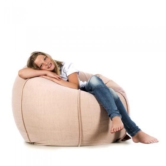 pufa worek różowa welur pufa dla dzieci fotel pufa do siedzenia pufy sako jabba baloon roome