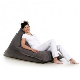 pufa worek czarna bawełna pufa leżak jeans loft design pufa do siedzenia pufy sako styl skandynawski jabba lofty