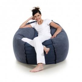 pufa worek niebieska granatowa bawełna pufa fotel jeans loft design pufa do siedzenia pufy sako styl skandynawski jabba puck