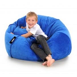 puf worek do siedzenia dla dzieci minky pluszowa welur miękka brązowa karmelowa Jabba Plush