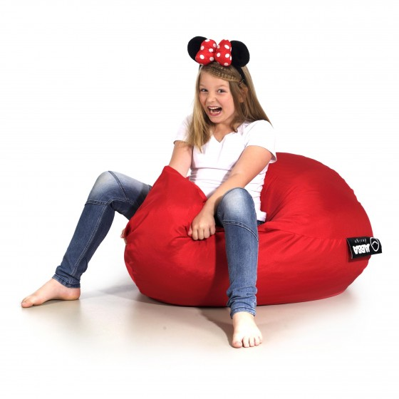 pufa dla dzieci worek do siedzenia Blinky Jabba czerwona