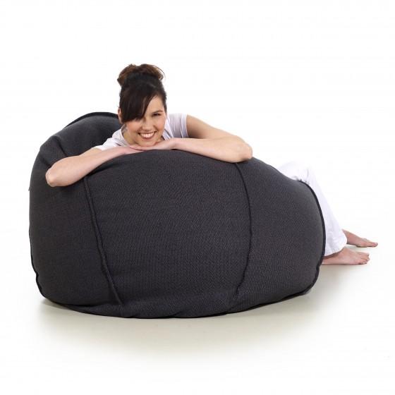 pufa worek ciemna szara loft design pufa do siedzenia pufy sako Jabba baloon