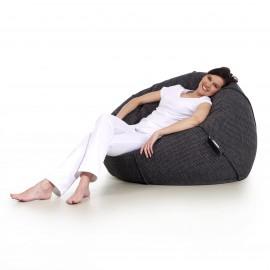 pufa worek ciemna szara loft design pufa do siedzenia pufy sako Jabba baloon balon