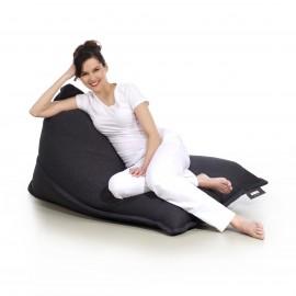pufa worek ciemna szara loft design leżak pufa do siedzenia pufy sako styl skandynawski Jabba lofty