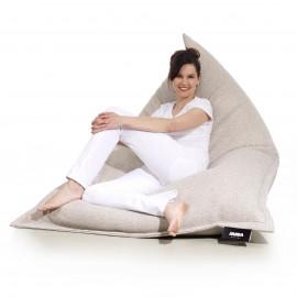 pufa worek beżowa szara loft design leżak pufa do siedzenia pufy sako styl skandynawski jabba grand