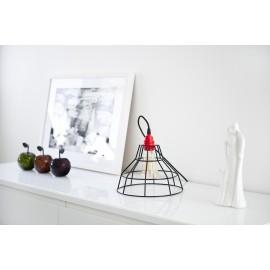 Lampa stołowa druciana Workshop czarna Jabba Design