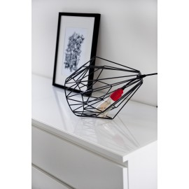Lampa stołowa druciana Diamond czarna Jabba Design