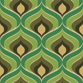 Tkanina dekoracyjna Lilly zielona Jabba Design