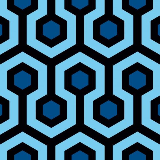 Tkanina dekoracyjna Shining niebieska Jabba Design