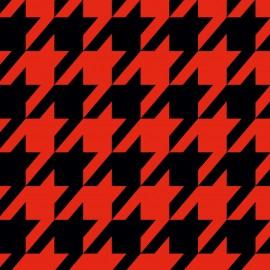 Tkanina dekoracyjna Pepitka czerwono-czarna Jabba Design