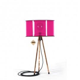 Lampa stołowa Tripod Clear Fuksja Jabba Design