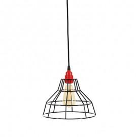 Lampa wisząca druciana Workshop czarna Loft - Jabba Design