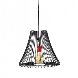 Lampa wisząca druciana Shade czarna Loft - Jabba Design