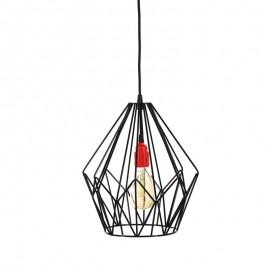 Lampa wisząca druciana Diamond czarna Loft - Jabba Design