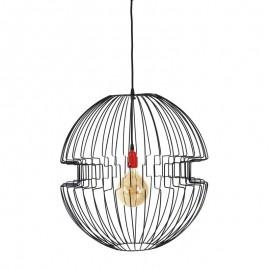 Lampa wisząca druciana Imperium czarna loft - Jabba design