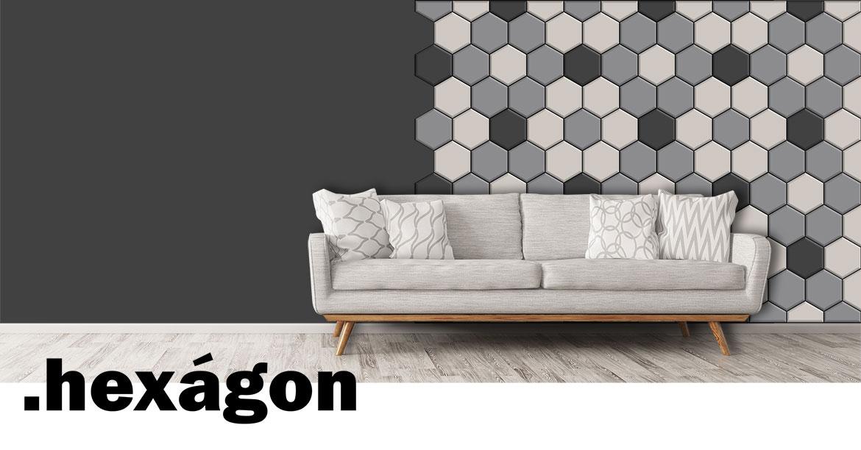 tapicerowane panele ścienne Hexagon Jabba
